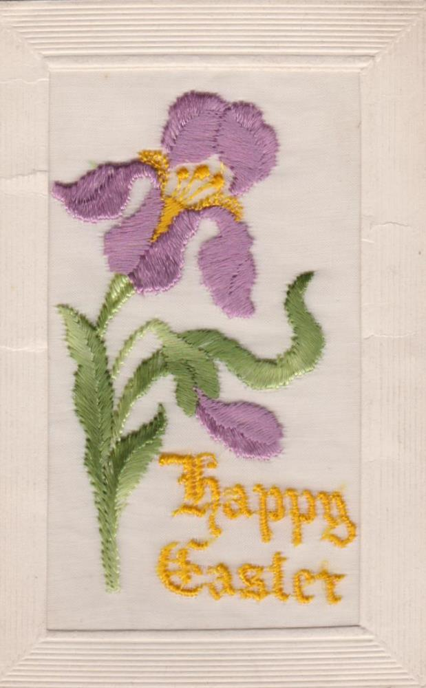Embroiderd easter card